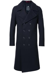 Loveless Notched Lapel Double Breasted Coat Black