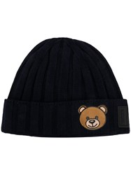 Moschino Teddy Bear Beanie Blue