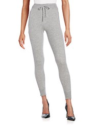 Donna Karan Cashmere Knit Jogger Pants Pale Grey