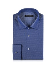 Forzieri Blue With White Micro Dots Men's Slim Fit Shirt