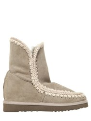 Mou 70Mm Short Eskimo Shearling Wedge Boots