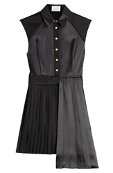 Fausto Puglisi Asymmetric Dress With Pleated Skirt