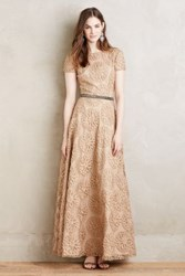 Anthropologie Marguerite Gown Taupe