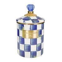 Mackenzie Childs Royal Check Canister Blue