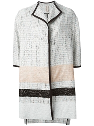 Antonio Marras Boucle And Sequin Coat Multicolour