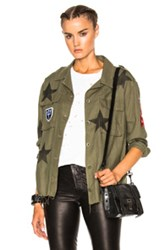 Amiri Military Star Button Up Jacket In Green