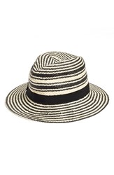 Women's Halogen Two Tone Straw Panama Hat