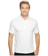 Nautica Short Sleeve Solid Softex Polo Bright White Men's Short Sleeve Pullover