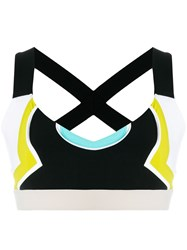 No Ka' Oi Color Block Cropped Top Multicolour