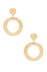 House Of Harlow The Titaness Statement Earrings Metallic Gold