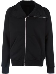 Rick Owens Drkshdw Asymmetric Zip Up Hoodie Black
