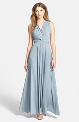 Women's Dessy Collection Convertible Front Twist Jersey Gown Monument