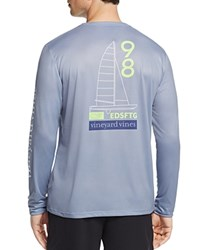 Vineyard Vines Catamaran Whale Long Sleeve Performance Tee Shark Gray