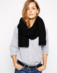 Selected Clea Chunky Knitted Scarf