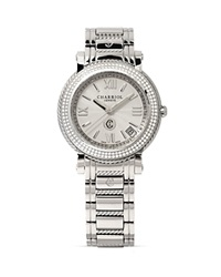 Charriol Parisii Medium Round Diamond Steel Watch 33Mm