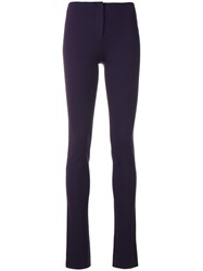 Missoni Vintage High Rise Skinny Trousers Pink And Purple