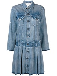 Levi's Made And Crafted Denim Jacket Styled Dress Blue