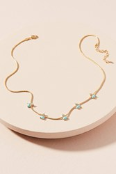 Anthropologie Ariel Stone Choker Necklace Turquoise