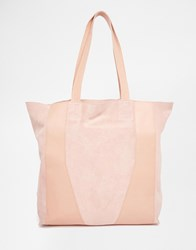Urbancode Relaxed Leather Shopper Bag Pink