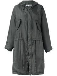 Katharine Hamnett Hooded Parka Green