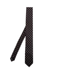 Dolce And Gabbana Polka Dot Silk Tie Black Multi