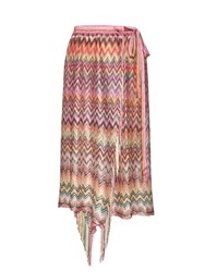 Missoni Zigzag Stripe Beach Skirt Pink Multi