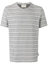 Oliver Spencer Conduit Striped T Shirt Nude Neutrals