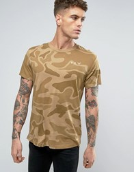 G Star Beraw Qane Camo Relaxed T Shirt Toggee Ao Beige
