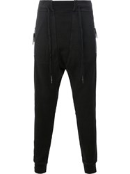 11 By Boris Bidjan Saberi Drawstring Zipped Pockets Sweatpants Black