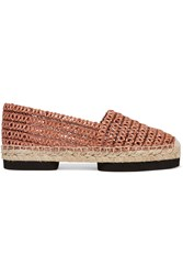 Paloma Barcelo Woven Leather Espadrilles Red