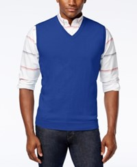 Club Room Men's Sweater Vest Only At Macy's Lazulite
