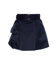 Marc Jacobs Military Silk Satin Skirt