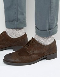 Frank Wright Suede Brogues Brown