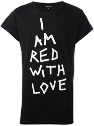 Ann Demeulemeester Red With Love T Shirt Black
