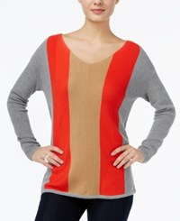 Tommy Hilfiger Jody Shaker Pullover Sweater Only At Macy's Medium Grey Heather