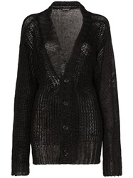 Ann Demeulemeester Loose Fit Knitted Cardigan Black