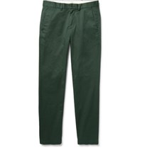 Club Monaco Connor Slim Fit Stretch Cotton Twill Chinos Dark Green