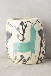 Anthropologie Wild Alpaca Pot Turquoise