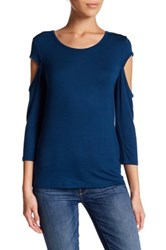 14Th And Union Cold Shoulder Tee Petite Blue
