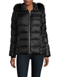 Andrew Marc New York Fox And Rabbit Fur Trimmed Jacket Black