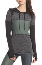 Alala Patchwork Hoodie Black Moss Heather