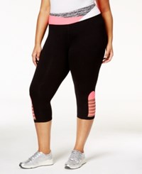 Material Girl Active Plus Size Cutout Cropped Leggings Only At Macy's Classic Black