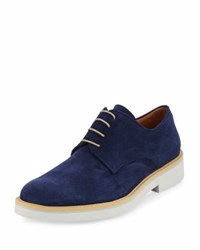 Bugatchi Torino Suede Derby Oxford Blue