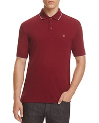 Z Zegna Piquet Slim Fit Polo Maroon