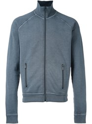 Dsquared2 Zip Up Long Sleeved Fleece Blue