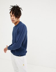 Your Turn Yourturn Cable Knit Jumper In Blue