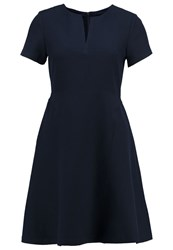 Banana Republic Summer Dress Preppy Navy Dark Blue