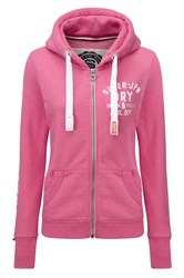 Superdry Track And Field Zip Hoodie Pink