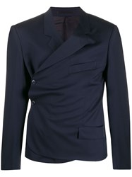 Martine Rose Wrap Front Blazer Blue
