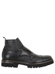 Brimarts Double Monk Strap Leather Ankle Boots